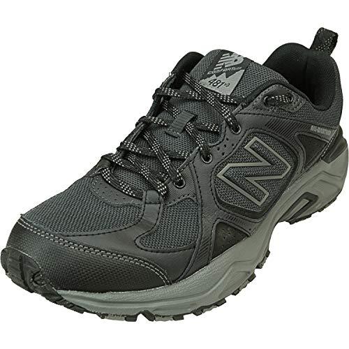 New Balance Men's 481 V3 Trail Running Shoe, Black/Phantom, 10.5 XW US