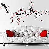 Primavera flor de cerezo rama Sakura flores flores vinilo adhesivos de pared desmontables