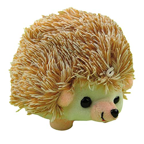 Hellery Hedgehog Shape Cute Sewing Pincushion with Soft Cotton Fabric Pin Cushion Pin Patchwork Holder Needlework Accessory - Brown