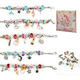 kit per braccialetti ragazza, 74 pezzi idee regalo braccialetto ragazza, kit di creazione di braccialetti con ciondoli perline catene per gioielli, arti e mestieri set per, regalo bambina 8-12 anni