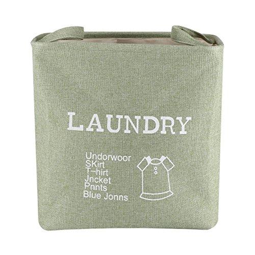 Opbergdoos, opvouwbare stoffen opbergmand mand speelgoed kleding handdoek wascontainer (groen)