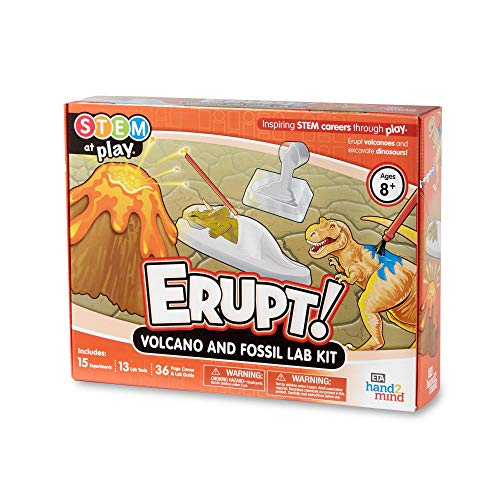 hand2mind ERUPT! Volcano And Fossil STEM Kits For Kids Ages...