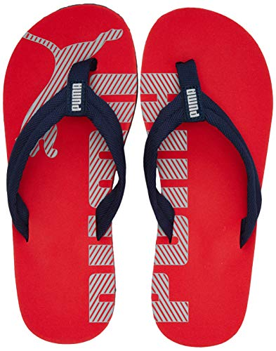 PUMA Unisex-Kinder Epic Flip V2 Jr Zapatos de Playa y Piscina, Rot (High Risk Red-Peacoat), 39 EU