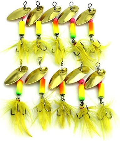 LENPABY 10PCS Max 40% OFF Bait Lures Spinners Fishing Spinnerbaits Sp Metal New sales