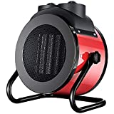 YLE Outdoor Patio Heater,2000W Electric Patio Heaters Outdoor,Desktop Portable Heater With Overheat Protection, 2-Speed Power Ptc Fan Heater,Stepless Temperature Adjustment, Black Heater