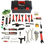 9. Bikehand 37pcs Bike Bicycle Repair Tool Kit with Torque Wrench - Quality Tools Kit Set for Mountain Bike Road Bike Maintenance in a Neat Storage Case