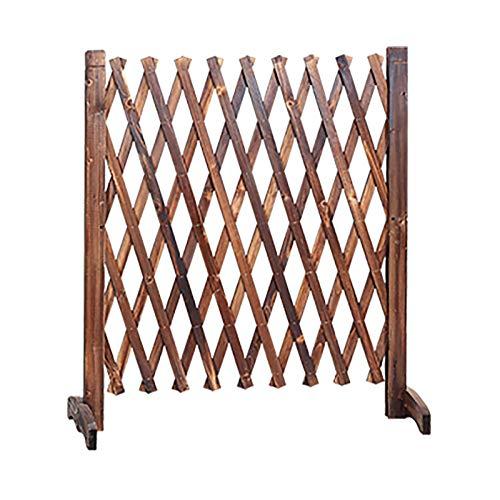 Erweiterender Zaun, Gartenzaun Privatsphäre Zaun Bildschirm, Holz Gitter für Kletterpflanzen Outdoor Grid Dekoration Teleskop Guard Rail Outdoor Garten Zaun Tierzaun (Size : 65x200cm)