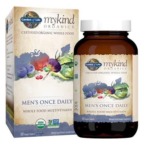 Garden of Life Mykind Organics, Men's Once Daily, Whole Food Multivitamin,...