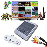 Classic Mini NES Retro Game Console with Built in 620 Video Games and 2 pack Controllers, Super SFC Retro Game System Handheld, AV Output NES Console for Kids and Adults as An Ideal Gift.