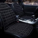 Jcsdhly 12V Auto Coprisedile riscaldato Ispessimento Caldo Caldo Cuscino tampone per Tempo Freddo Inverno Autista sede Ufficio Sedia (Nero)