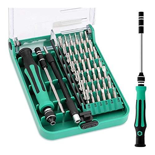 meimeijia Duradero 45-en-1 Juego de Destornilladores Desmontando numéricos Herramientas de reparación Perforar (Color : Green)