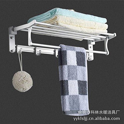 MBYW moderne minimalistische hoge dragende handdoek rek badkamer handdoekenrek Pendant_Hanger inklapbare kleine ruimte aluminium handdoek rek Geschikt voor badkamer, slaapkamer, keuken