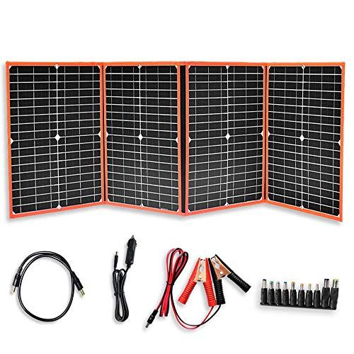 XINPUGUANG 80w 18v faltbares Solarpanel monokristallines Solarladegerät für Camping, Wandern, Wohnmobil, Zelt, Tablet, 12V Batterieladung