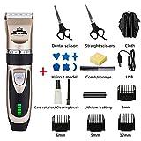 Cortapelos eléctricos, set de cortauñas para mascotas para niños adultos y niños Set one (21pcs) negro
