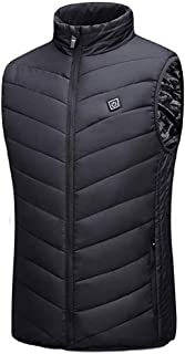 Heated Vest 9 Zones Heating Clothing Unisex Slim Fit Electric Heating Gilet Winter Warm Jacket with 3 Temperature for Outd...