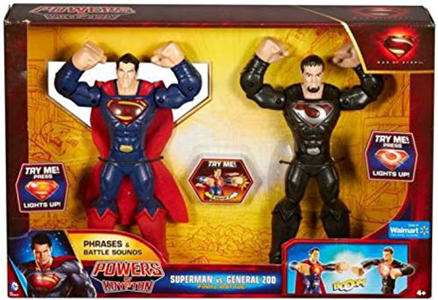 Man of Steel Powers of Krypton 2-Figure Pack  Superman vs. General Zod