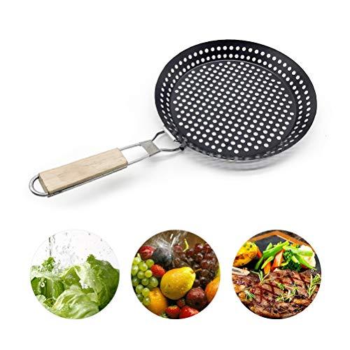 KENANLAN Grillpfanne Carbon-Grillpfanne Antihaft-Grillpfanne mit Faltbarem Griff