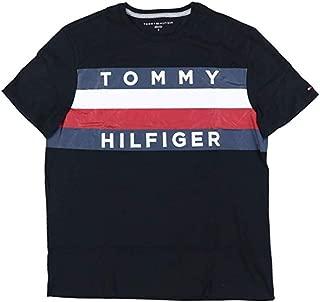 TOMMY HILFIGER Mens Large Graphic Flag Logo T-Shirt