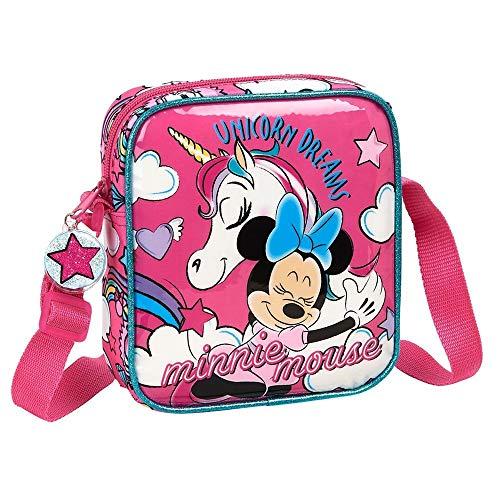 Disney Minnie Mouse und Einhorn Mädchen Handtasche, Kinder Umhängetasche, Spaß Entzückendes Design, Geburtstag Weihnachts Geschenk für Mädchen!