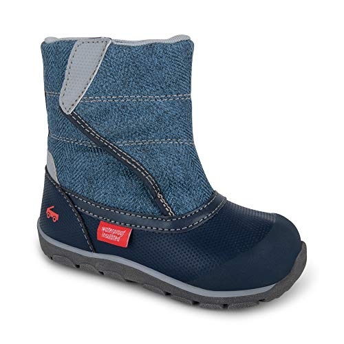 See Kai Run - Baker Waterproof Insulated Boots for Kids, Blue, 7