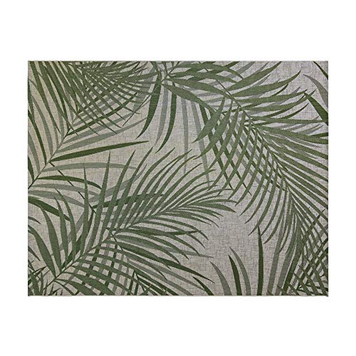 Gertmenian Tropical Collection Outdoor Rug Patio Area Carpet 9x13 X Large Sequoia Leafs Green