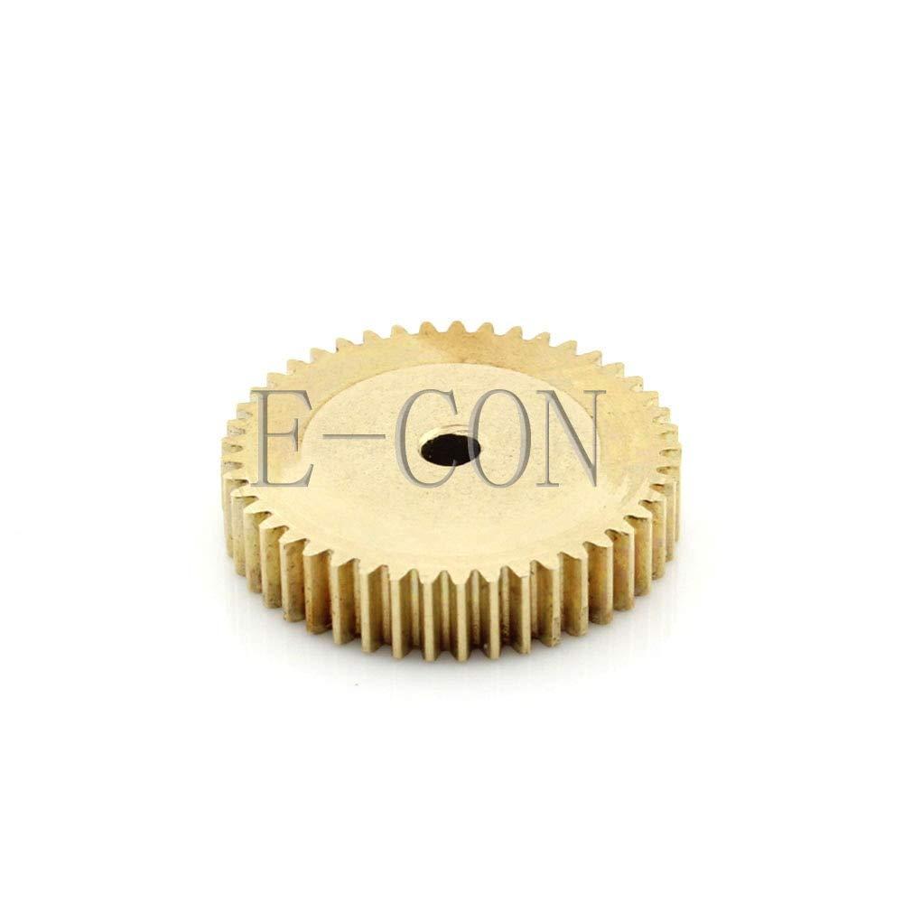 Fevas 2pcs 1M-45T Metal Aluminum Alloy Precision Small Motor spur Gear-Hole d:6mm
