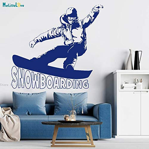 Banken Snowboard Schöne Haltung Wandaufkleber Home Decoration Wohnzimmer Extremsport Jugendliche Vinyl Poster Glas Aufkleber Auto Aufkleber 120X110Cm