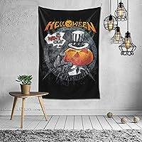 タペストリー Helloween Band ハロウィンバンド ファッション 布製壁掛け 部屋 寮 ホームステイ窓 壁 装飾用品 多機能 ブランケットカーテン ビーチタオル インテリア,(60x40inch/150x100cm)
