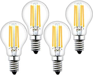 Luxvista 4W E14 G45 Mini Bombilla Golf de Filamento LED, Vintage Edison Pelota del Bulbo Filamento de rosca E14 LED Transparente, Luz Globo Foco Industrial Decorativa (Blanco Cálido 2700K, 4 Unidades)