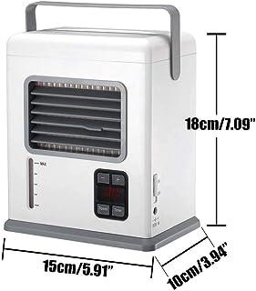 AUUUA - Ventilador de aire acondicionado portátil recargable con USB mini refrigerador de aire de mano para oficina y hogar