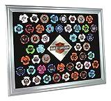 Harley-Davidson Silver Collector's Poker Chip Frame, Fits 50 Chips 6950