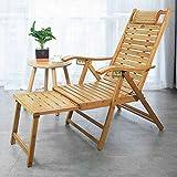 TGTGH Tumbona de jardín tumbona reclinable para balcón, bambú con pedal telescópico, tumbona para exteriores, jardín, patio, gravedad, silla reclinable (tamaño, bambú 4,5 cm), bambú 2,4 cm
