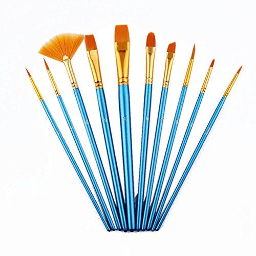 PIXNOR Set di artista pennello, Set di Pennello per Olio e Acrilico Pittura Artista- 10pz