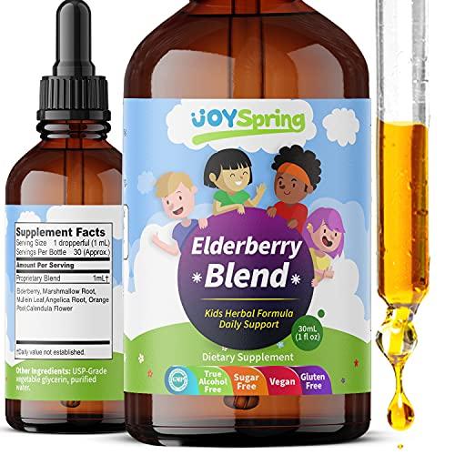 Organic Elderberry Syrup For Kids - Best Natural Kids Cold Medicine, Pure Elderberry Blend For Sickness Relief, 3X Stronger Vegan &Amp; Sugar-Free Formula To Strengthen Immune System