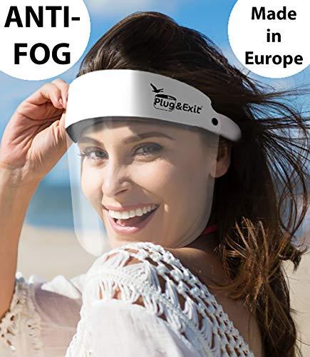 Visier Gesichtsvisier Gesichtsschilde Face Shield Anti Fog KEIN BESCHLAGEN Weiss