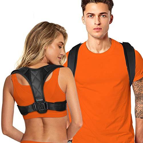 Posture Corrector for Men and Women - Adjustable Upper Back Brace for Clavicle to Support Neck, Back and Shoulder