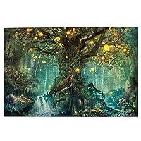 1000ピース ジグソーパズル 木製 『サイケデリックのtree Of Life』 パズル 大人用 子供用 1000ピースチャレンジ ギフト プレゼント 減圧 パズルのピース 完成サイズ(75.5cm * 50.3cm)