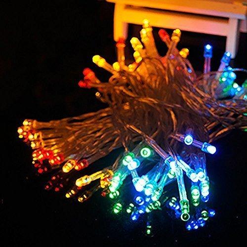 HANGQI(R) 10M 80LED Batterie Operated Chaîne Guirlande de soirée de mariage de Noël de Noël (Multicolor)