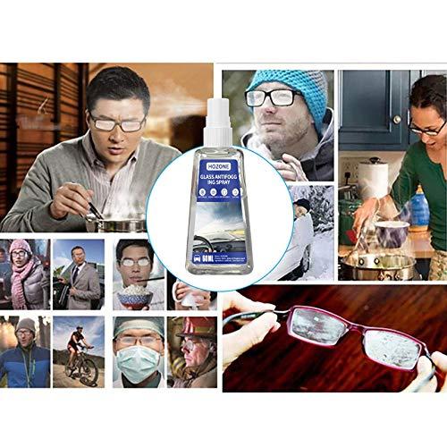 Brillen-Antibeschlag- Hilft gegen Beschlagene Brille-Spray 60 ml Antibeschlagmittel -Auto-Innenraum, Glas, Fenster, Windschutzscheibe, Antibeschlag, Defogger alle Linsen, Schwimmbrillen, Skibrillen