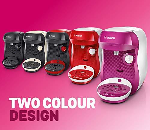 TASSIMO Bosch Happy TAS1007GB Coffee Machine 1400 Watt, 0.7 Litre – Cream