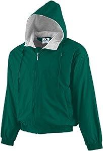 Augusta Sportswear Men's Hooded Taffeta Jacket/Fleece Lined
