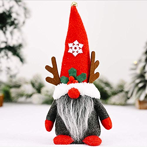 Zatyorg Christmas Gnome Decoration 11 Inches Mini Plush Santa Gnome Christmas Ornament Santa Claus Gnome Xmas Toy Figure Plush Toy Doll for Christmas Party Fireplace Tree Hanging Decoration