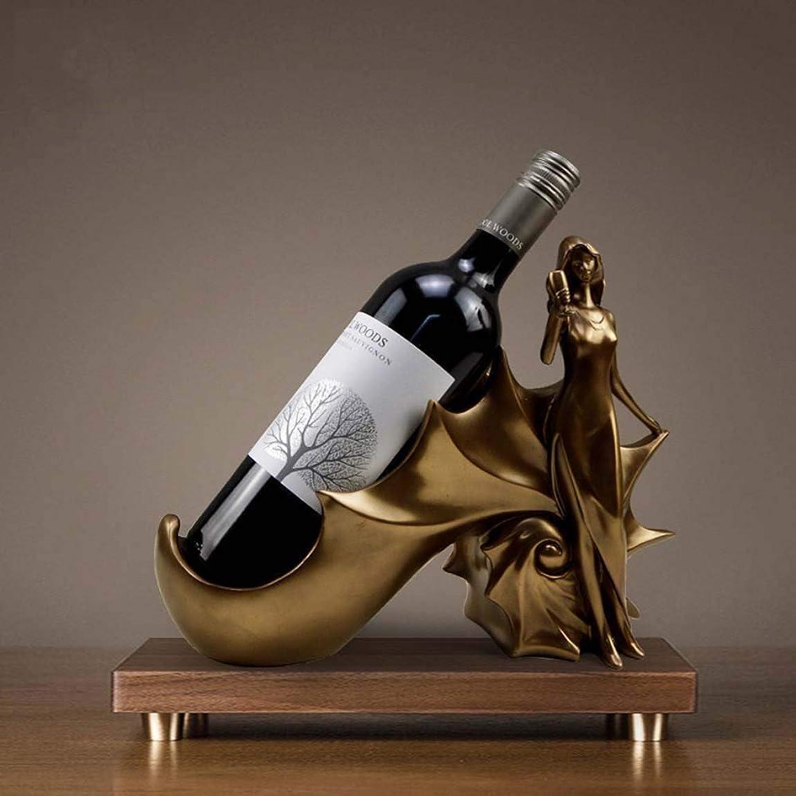 面積作成者減らすZGQA-GQA 美しいレトロコールドブロンズ樹脂グレードワインボトルラックコンク装飾アートワークのクリエイティブ装飾品33 * 12 * 24センチメートル繊細な