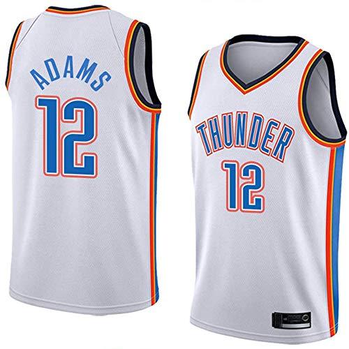 XSJY Herren-Basketball-Trikots - NBA Oklahoma City Thunder 12# Steven Adams Basketball-Fan Uniform Kühle Breathable Gewebe-Weste-T-Shirt,B,XL:180~185cm/85~95kg