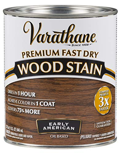 Varathane 262005 Premium Fast Dry Wood Stain, Quart, Early American