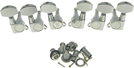 Wilkinson 3L3R Chrome E-Z-LOK Post Guitar Tuners EZ Post Guitar Tuning Keys Pegs Machine Heads for Acoustic Guitars