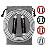 Weighted Jump Rope - Premium Heavy Jump Ropes with Adjustable Extra Thick Cable, Aluminum Silicone...