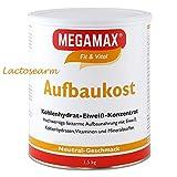 MEGAMAX Aufbaukost Neutral 1.5 kg - Ideal zur Kräftigung und bei Untergewicht - Proteinpulver zur...