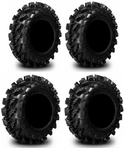 Full set of Interco Swamp Lite 27x9-12 and 27x10-12 ATV Tires (4)