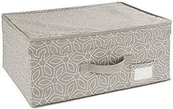 WENKO Pudełko do przechowywania Balance – kosz do przechowywania z pokrywką, polipropylen, 44 x 19 x 33 cm, taupe